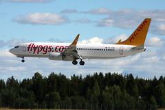 Pegasus TC-CPB, OSL ENGM Gardermoen (Inger Bjrndal Foss) Tags: tccpb pegasus boeing 737 osl engm norway gardermoen
