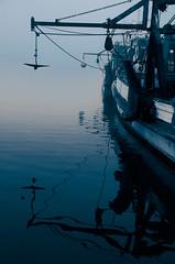 Reflections (jochen.hess) Tags: blue sea boat jochen hess sydney harbour reflection double colour fog pretty moody