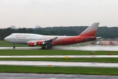 EI-XLJ in a new livery! (ekaterina_rogova) Tags: canon russia aviation avgeek aircraft boeing b747 rain splash takeoff pulkovo plane planespotting