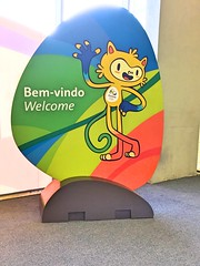Na entrada do IBC (CartasemPortador) Tags: rio 2016 voluntariado voluntrio olimpadas jogos olmpicos