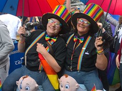 Irish Mammies (mcginley2012) Tags: pride galwaypride2016 irishmammies ireland cameraphone lumia650 parade colour rainbow joy portrait glasses tophat happy