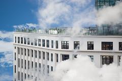 JP Tower as cloudheaven (JP) (christinayan01) Tags: building perspective tokyo japan office shopping architecture cloudheaven cloud sky