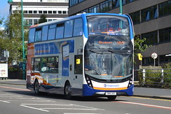 Stagecoach AD Enviro 400MMC 10621 SN16OXC - Stockport (dwb transport photos) Tags: stagecoach alexander dennis enviro 400mmc bus decker 10621 sn16oxc stockport
