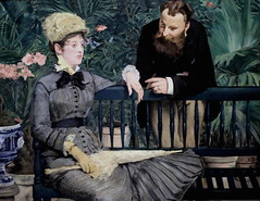 IMG_5003M Edouard Manet.  1832-1883. Paris.   Dans la serre. In the Conservatory. 1879. Hambourg Kunsthalle  (Exposition temporaire)  Berlin Nationalgalerie (jean louis mazieres) Tags: peintres peintures painting muse museum museo allemagne deutschland germany hambourg kunsthalle edouardmanet