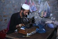 A tailor in Charsadda (muhammadabdullah_k) Tags: charsada pakistan interest free loans microfinance entrepreneurship pakhtoon ordinary people small business akhuwat tailor