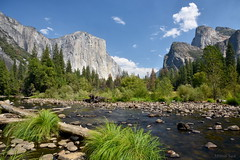 [U-shaped valley and Merced River] (miltonsun) Tags: yosemite california mercedriver westcoast water sky landscape mountains clouds river nature green ngc