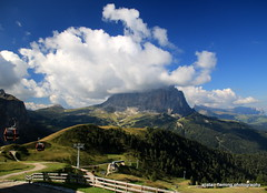 01-IMG_6865 Italian Dolomites (marinbiker 1961) Tags: selva valgardena italy mountains sky greengrass clouds skislopes summer outdoors
