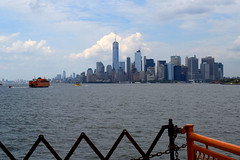 Manhattan (greenelent) Tags: 911 september11 newyorkcity nyc manhattan newyorkharbor statenislandferry water 365 photoaday ocean