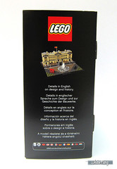 Side view of the original box of 21029 Buckingham Palace (WhiteFang (Eurobricks)) Tags: lego architecture set landmark country buckingham palace victoria elizabeth royal royalty family crown jewel imperial statue tourist united kingdom uk micro bus taxi