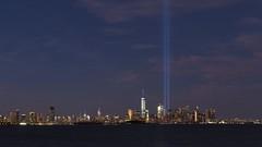 Fifteen Years (beanhead4529) Tags: newyorkcity nyc manhattan newyorkharbor tributeinlight worldtradecenter wtc skyline esb empirestatebuilding lowermanhattan bluehour twintowers