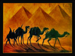 kommt gut in die neue Woche !!! (karin_b1966) Tags: bild picture gemlde painting kamele camel 2016 bildausschnitt detailofapicture