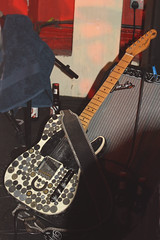 Guitars, Ukuleles, etc. [Necked Box Lutes played with Hands] 73: Electric Guitar [Fender Telecaster] (of Dale Watson) (KM's Live Music shots) Tags: musicalinstrument hornbostelsachs chordophone telecasterguitar fenderguitar electricguitar guitar dalewatson 100club