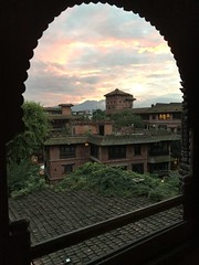 Sunset at Dwarika's Hotel (albedo20) Tags: kathmandu nepal sunset public asia2016