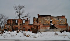 remains (Wade Bryant) Tags: brick abandoned fire side detroit east damaged kerchieval