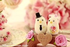 Love Birds with wood bridge Wedding Cake Topper (charles fukuyama) Tags: wood bridge wedding flower birds forest miniature anniversary swarovski lovebirds sweetheart custom sculpted initials headdress cakedecoration bridalbouquet weddingcaketopper bridalhair claydoll handmadewedding animalscaketopper birdscaketopper bridalbirdcage kikuike