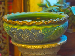 Ceramic Bowl (RickyZ2010) Tags: camera green photo vase greenandblue soibouakhao