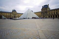 Louvre Pyramid (David G Mills) Tags: paris france louvre eiffeltower ndfilter louvrepyramid