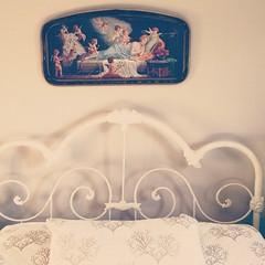 Where I #dream #projectlife365 (Pamela Greer) Tags: vintage square bed soft nashville antique dream angels squareformat romantic dreamy iphoneography instagramapp uploaded:by=instagram projectlife365