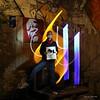 Nantes (Calife One) Tags: street light streetart lightpainting night paint lumière nuit nantes jinks pochoir calligraphie lightgraff pochoiriste jinkskunststencil détournementpanneaux