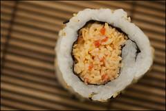 Sushi (Nelson Webb) Tags: japanese edmonton yum maki these flickrmeet yumm thesewerealright spicycaliforniarole atleastithinkthatswhatthiswas photoisalright safewayspecial