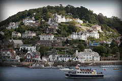 Kingswear (Brian Maher) Tags: inglaterra light summer portrait england sky woman sun blur mountains color colour verde green church girl earings hat leaves animal forest fly wings mujer dress retrato makeup cielo thinking shining
