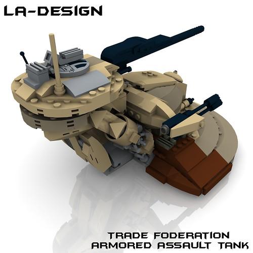 Lego Custom Star Wars Aat Tank 4 A Photo On Flickriver