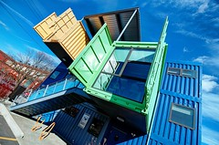 The Box Office (dovetaildw) Tags: color building green island office nikon box providence container shipping rhode d7000