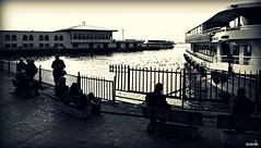 kadky istanbul (Halit Volkan Cengiz) Tags: sea bw canon eos blackwhite seaside istanbul kadky halitvolkancengiz
