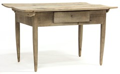 13. Antique One Drawer Farm Table