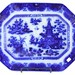 165. 19th Century Flow Blue Platter