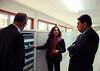 Alexandra Jorge, ILRI genebank manager with Alfredo Miranda, Mexican ambassador to Ethiopia