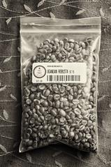 Bag of Ugandan Robusta (coffeehistorian) Tags: coffee café beans robusta smcpfa43mmf19 coffeacanephora silverefexpro2