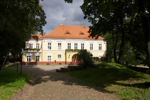 Elewacja tylna pałacu w Otmuchowie