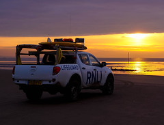 R.N.L.I Crosby (Bev Goodwin) Tags: sunset sea england liverpool crosby rnli merseyside crosbybeach royalnationallifeboatinstitution