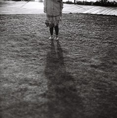 an afternoon (waiyuhk) Tags: shadow bw 120 6x6 film girl grass mediumformat 120mm kiev88 arsat honking shanghaigp3