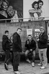 Stockholm #03 (PLUS||ULTRA) Tags: street winter portrait people blackandwhite bw 35mm season lens photography blackwhite nikon europe sweden stockholm availablelight candid documentary editorial candidportrait inpublic fflickr webpublication d7000 afs35mm18