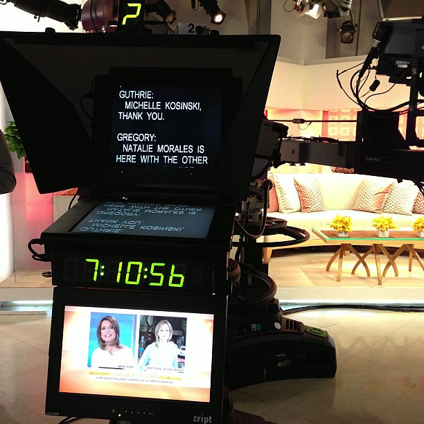 Thank you. Prompter. Inside @todayshow #SteveInToday