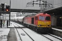 """DB Schenker Class 60, 60063 (37190 """"Dalzell"""") Tags: red leeds doughnut tug class60 60063 dbschenker"""