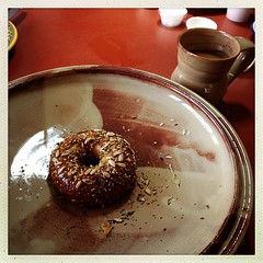"Having bagels and discussing website stuff with @kilngod and @chrispetrauskas and isn't that pottery pretty? • <a style=""font-size:0.8em;"" href=""https://www.flickr.com/photos/61640076@N04/8504908854/"" target=""_blank"">View on Flickr</a>"