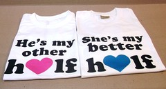 better halves couple tshirts (GiftsMate) Tags: wedding gifts anniversarygifts coupletshirts