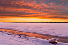 Lake Chatfield Icescape (mclcbooks) Tags: sunrise landscape dawn colorado chatfieldreservoir chatfieldstatepark