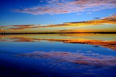 DSC_0284_2013-02-25_20-05 (J Rutkiewicz) Tags: sunset reflection clouds