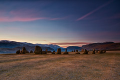 Castlerigg Stone Circle At Dawn (mark_mullen) Tags: uk morning england snow cold english monument beautiful sunrise landscape dawn nationalpark scenery frost lakedistrict scenic cumbria druid keswick neolithic castleriggstonecircle canon1740f4 highrigg naddlefell canon5dmk3 markmullenphotography