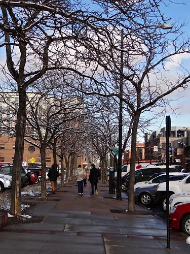 Photo - Pedestrians walking toward 13th Street