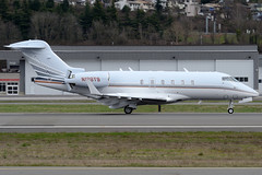 Private N128TS (Drewski2112) Tags: seattle county field airport king international boeing 300 challenger bombardier bfi kbfi cl30 n128ts