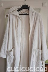 bathrobe makeover: boring white before (cucicucicoo) Tags: white bathroom workinprogress wip bathrobe bagno bianco accappatoio