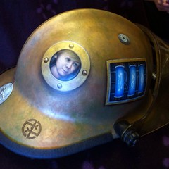 Helmet of barter for Phil Campbell (danielroseart) Tags: steampunk custompainting 2013 enamels danielrose danielroseart uploaded:by=flickrmobile flickriosapp:filter=nofilter helmetofbarter