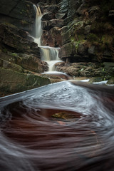 Wildboar Clough (Duncan Fawkes) Tags: longexposure brown water rock derbyshire gorge swirl geology bleaklow torside wildboarclough