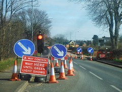 (steve p2008) Tags: signs trafficlight roadworks roadwork
