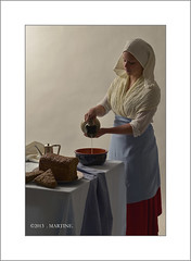 The Milkmaid (.MARTINE.) Tags: dutch bread milk artist flash inspired painter jar vermeer milkmaid melk oldmaster kan martine brood melkmeisje strobist ezybox flickrgolfclub nikond800 clanflickr nikonsb910